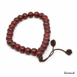 Bracelet en bois rouge 8mm