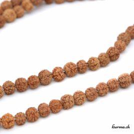 Mala en rudraksha marron 6mm