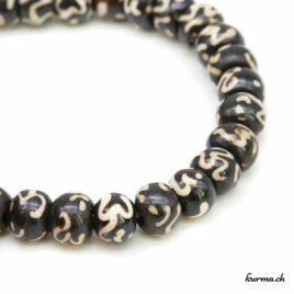Bracelet en os ''Om'' 8mm