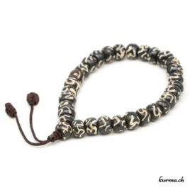 Bracelet en os ''Om'' avec une ficelle 8mm
