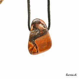 """Rhyolite """"Agate étoilée"""" – Pendentif pierre percée – N°8490.1"""