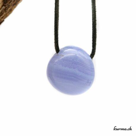 Calcédoine bleue pendentif pierre