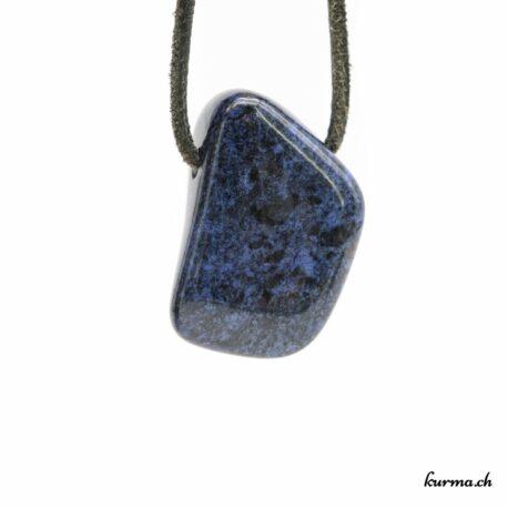 Dumortiérite pendentif pierre percée