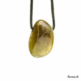 Grenat grossulaire – Pendentif pierre percée – N°7176.1
