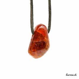 Grenat hessonite – Pendentif pierre percée – N°7190.1