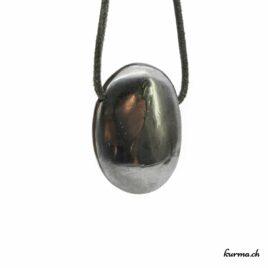 Hématite pendentif pierre percée