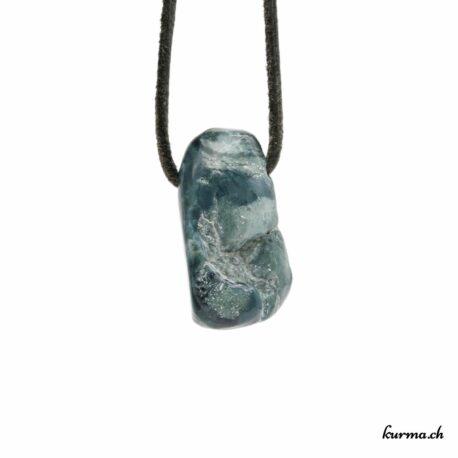 Jade bleu pendentif pierre percée