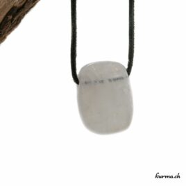 Labradorite blanche pendentif pierre percée