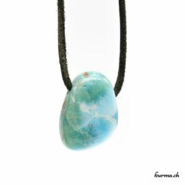 Larimar – Pendentif pierre percée – N°5843.2