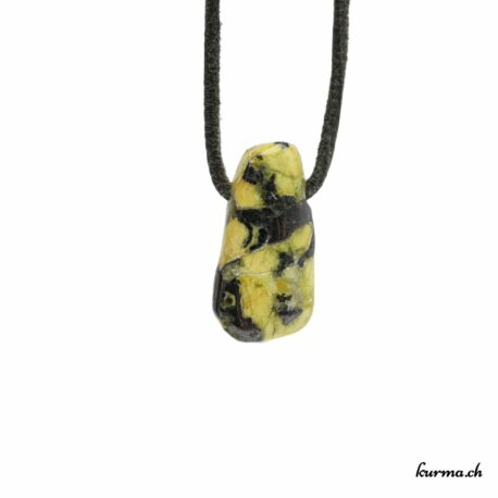 Lizardite pendentif pierre percée