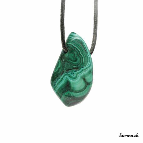 Malachite pendentif pierre percée