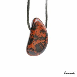 Obsidienne acajou pendentif pierre percée