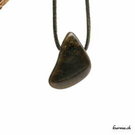 Obsidienne dorée- Pendentif pierre percée – N°8474.2