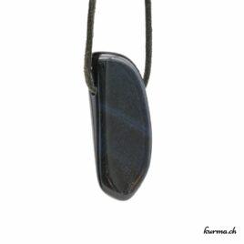 Oeil-de-faucon pendentif pierre percée