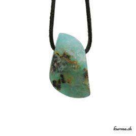 Opale des Andes verte pendentif pierre percée