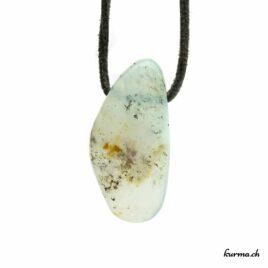 Opale des Andes verte – Pendentif pierre percée – N°8499.3