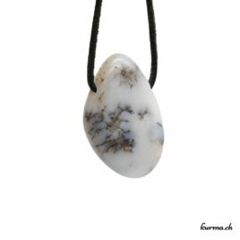 Opale mousse pendentif pierre percée