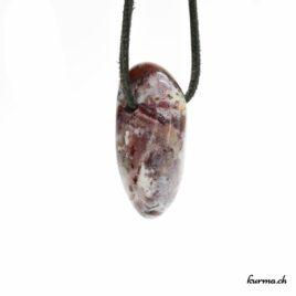 Agate Crazy Lace pendentif pierre percée