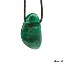 Aventurine verte – Pendentif pierre percée – N°7220.6
