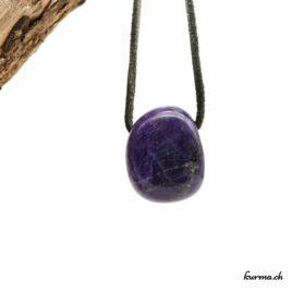 Lépidolite – Pendentif pierre percée – N°7926.2