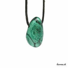 Malachite – Pendentif pierre percée – N°6981.1