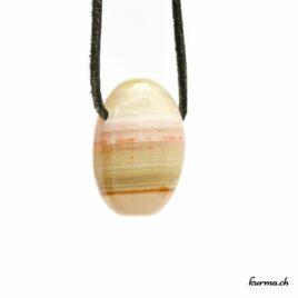 Onyx marbré – Pendentif pierre percée – N°8476.2