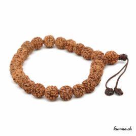Bracelet en rudraksha avec une ficelle 7mm