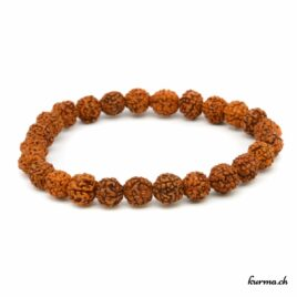 Bracelet en rudraksha orange 7mm