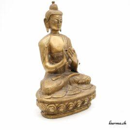 Statue de Bouddha Dharmachakra Mudra – Bronze – 20cm – N°6016