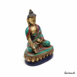 Statue du Bouddha médecine – 10cm – N°4357.1
