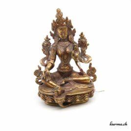 Tara verte en bronze – 15cm – N°1201