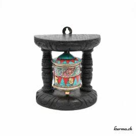 Moulin à prières tibétain mural – 11cm – N°6332.2