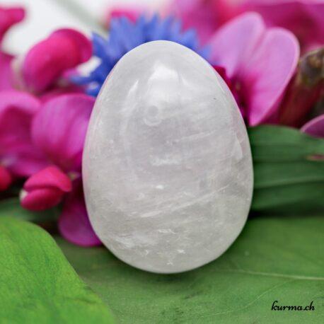Oeuf de Yoni en Cristal de roche percé large