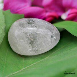 Oeuf de Yoni en Cristal de roche percé médium