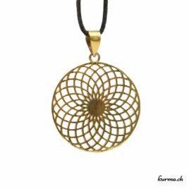 Sahasrara chakra couronne – Pendentif en Laiton – N°6740